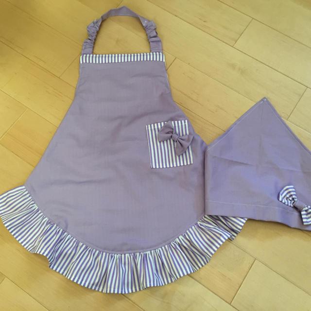 KJA様専用 子供エプロンセット ハンドメイドのキッズ/ベビー(ファッション雑貨)の商品写真
