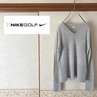 ナイキ(NIKE)の 【極美品】NIKE GOLF ナイキゴルフ ワンポイントロゴ 薄手ニット L(ウエア)