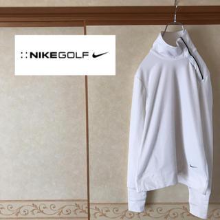 ナイキ(NIKE)の【極美品】NIKE GOLF ナイキゴルフ ハイネック ウェア ホワイト M(ウエア)