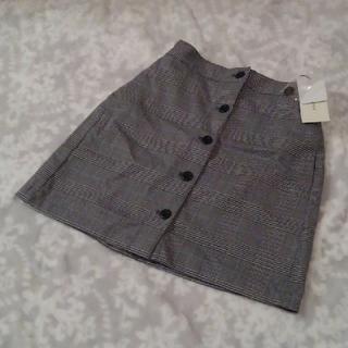 ブラウニー(BROWNY)のブラウニー☆レトロチェックフロントボタンタイトスカート(ミニスカート)