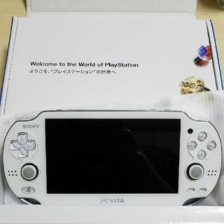 プレイステーションヴィータ(PlayStation Vita)のPlayStation®Vita クリスタル・ホワイト  PCH-1000(携帯用ゲーム本体)