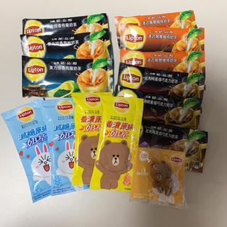 台湾リプトン♡ミルクティ5種類セット+コップのフチ(茶)
