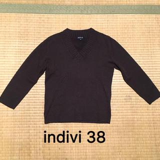 インディヴィ(INDIVI)の小さめ38 vネックラメニット(ニット/セーター)