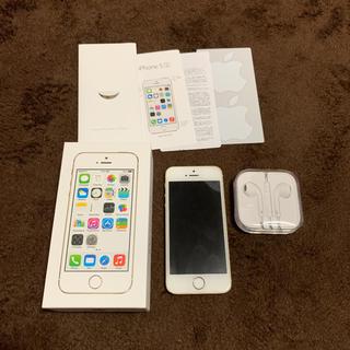 アップル(Apple)のiPhone5s gold16GB au(スマートフォン本体)