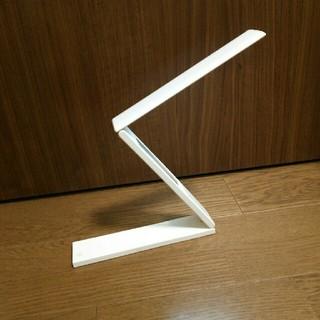 ヤザワコーポレーション(Yazawa)のスタンドライト 折り畳み式  LED USB電源 ACアダプター  ホワイト(テーブルスタンド)