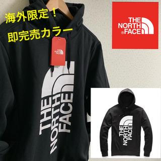 ザノースフェイス(THE NORTH FACE)の国内未発売!The North Face ビッグロゴパーカー ブラック 黒(パーカー)