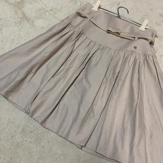 トゥービーシック(TO BE CHIC)のドゥービーシック  バルーン ベルト付きスカート(ひざ丈スカート)