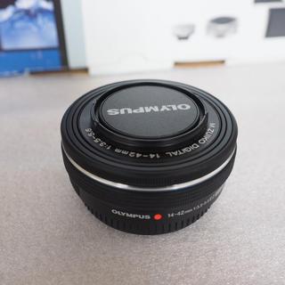 オリンパス(OLYMPUS)の美品 オリンパス M.ZUIKO 14-42mm f3.5-5.6 EZ 黒(レンズ(ズーム))