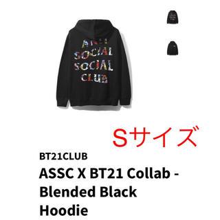 アンチ(ANTI)のASSC X BT21 Collab Blended Black Hoodie(パーカー)