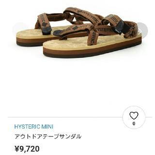 ヒステリックミニ(HYSTERIC MINI)の新品☆ヒスミニ サンダルXS(サンダル)