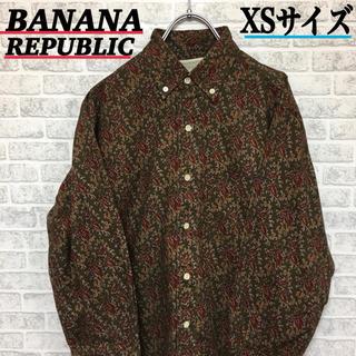 バナナリパブリック(Banana Republic)のBABANANA REPUBLIC 総柄シャツ XSサイズ シャツ(シャツ)