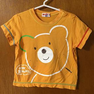 ミキハウス(mikihouse)のホットビスケッツ オレンジ Tシャツ 90サイズ(Tシャツ/カットソー)