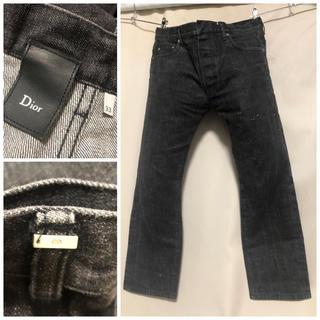 ディオールオム(DIOR HOMME)のDior Homme ディオールオム ダメージ加工 ブラックデニム 33 XL(デニム/ジーンズ)