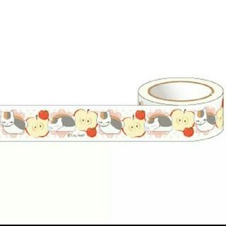 ハクセンシャ(白泉社)のマスキングテープ◎夏目友人帳 ニャンコ先生とリンゴ(テープ/マスキングテープ)