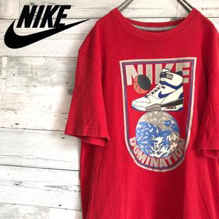 ナイキ(NIKE)の【レア】ナイキ NIKE☆プリントビッグロゴ ビッグスニーカーデザイン Tシャツ(Tシャツ/カットソー(半袖/袖なし))
