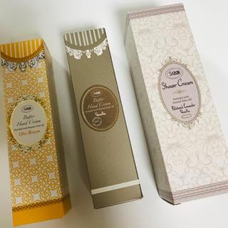 サボン(SABON)の新品未開封 サボン バターハンドクリーム&シャワークリーム セット(ボディクリーム)