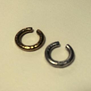 オリジナル(Original)の◎真鍮と錫(すず)のイヤーカフ太めのフープ◎Sサイズ(イヤーカフ)
