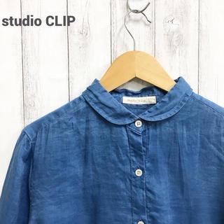 【studio  CLIP】リネンブラウス スタディオクリップ