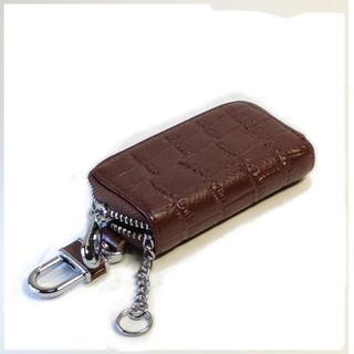 スマートキーケース 革 小物入れ バックに付けられるキーケース(ダークブラウン)(キーケース)