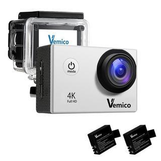 【本日★限定】1600万画素 4kアクションカメラ【シルバー】(ビデオカメラ)