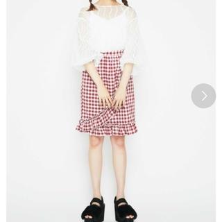 メリージェニー(merry jenny)のmerryjenny チェックフリルスカート(ひざ丈スカート)