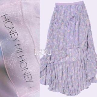 ハニーミーハニー(Honey mi Honey)の春色💓定価20520円💓flower skirt フラワースカート(ひざ丈スカート)