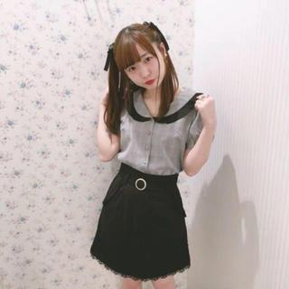ハニーシナモン(Honey Cinnamon)のHoney Cinnamon 裾レース台形スカート(ミニスカート)