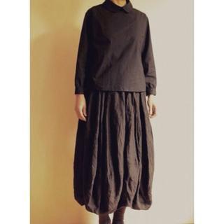 山中とみこさんのお洋服3点セット(黒)バルーンスカート チクチク(シャツ/ブラウス(長袖/七分))