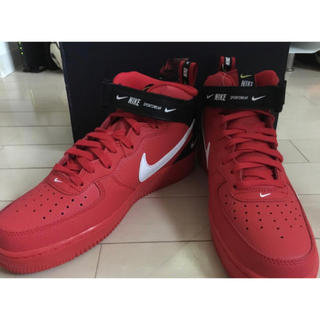 ナイキ(NIKE)のNike Air Force1 Mid Red(スニーカー)