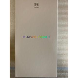 アンドロイド(ANDROID)の新品同様 SIMフリー Huawei nova3 レッド 付属品未使用(スマートフォン本体)
