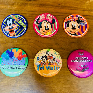 ディズニー(Disney)のディズニー缶バッジ 缶バッヂ 1st Visit! その他計6点(キャラクターグッズ)