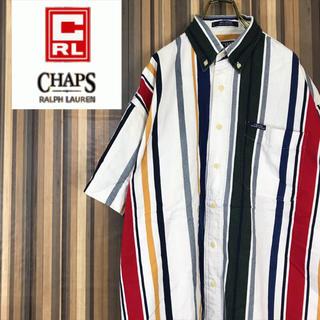 チャップス(CHAPS)の90s チャップス  ラルフローレン 半袖 マルチストライプ シャツ Lサイズ(シャツ)
