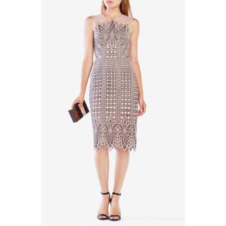 ビーシービージーマックスアズリア(BCBGMAXAZRIA)の新品同様 BCBG MAXAZRIA 今季完売色BELILA dressベージュ(ロングドレス)