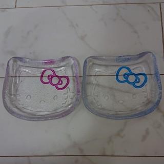 ハローキティ(ハローキティ)の新品未使用  小樽限定 ガラス細工 キティ 皿(食器)