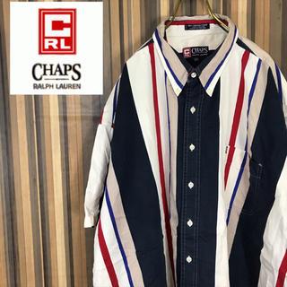 チャップス(CHAPS)の90s チャップス  ラルフローレン 半袖 マルチストライプ シャツ 3XL(シャツ)