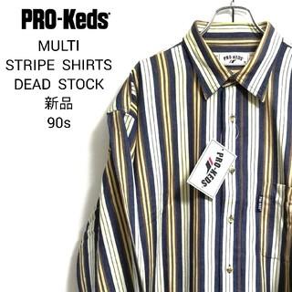 プロケッズ(PRO-Keds)のPRO-KEDS プロケッズ 新品 マルチカラー ストライプシャツ 長袖シャツ(シャツ)