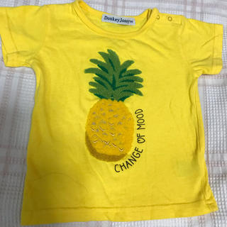 ドンキージョシー(Donkey Jossy)の80 Tシャツ パイナップル 黄色(Tシャツ)