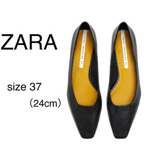 ザラ(ZARA)の【ZARA】バレリーナフラットシューズ/超美品/サイズ37/定価5,990円(バレエシューズ)