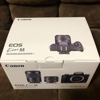 キヤノン(Canon)のキャノン EOS Kiss Mダブルズームキット ホワイト/ミラーレス一眼カメラ(ミラーレス一眼)