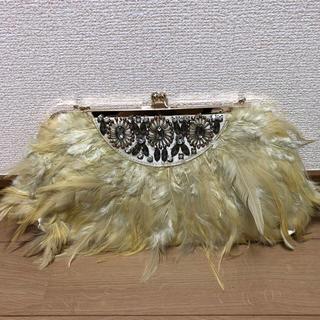 バビロン(BABYLONE)のチェーンバッグ結婚式羽クラッチバッグ(クラッチバッグ)