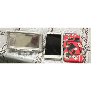ディズニー(Disney)のDisney Mobile SH-05F ホワイト 限定ケース、卓上ホルダー付き(スマートフォン本体)