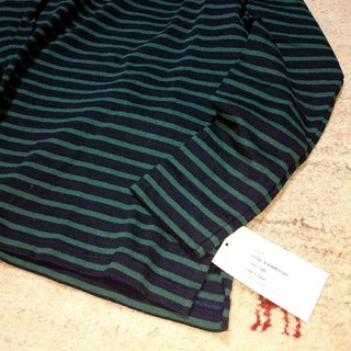 ビームス(BEAMS)の【新品未使用】nisicaガンジーネックボーダーカットソー(Tシャツ/カットソー(七分/長袖))