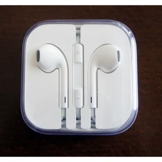 アップル(Apple)の新品未使用!iPhone イヤホン 純正(ストラップ/イヤホンジャック)