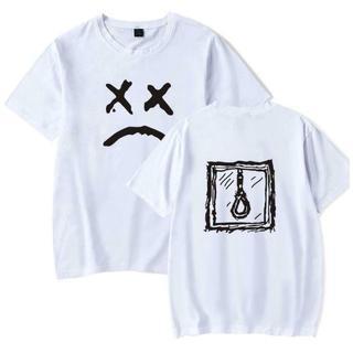 白 ホワイト 4XLサイズ リルピープ Tシャツ 半袖 カットソー(Tシャツ/カットソー(半袖/袖なし))
