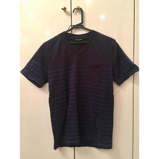 ナノユニバース(nano・universe)のナノユニバース Tシャツ Vネック S メンズ ボーダー(Tシャツ/カットソー(半袖/袖なし))
