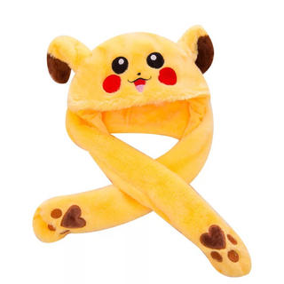ピカチュウ耳 耳が動くピカチュウ帽子黄色いピカチュウピカチュウ耳ダンス コスプレ(キャラクターグッズ)