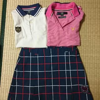 キャロウェイ(Callaway)のキャロウェイ ポロシャツ+スカートセット(ポロシャツ)
