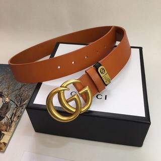 グッチ(Gucci)のグッチ ベルトgucci 3.8CM本革 メンズベルト ブロンズ(ベルト)
