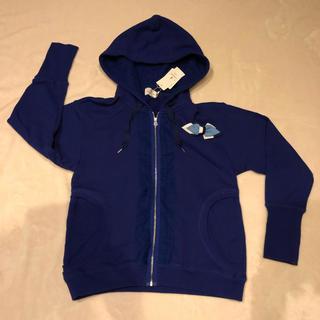 ランバンオンブルー(LANVIN en Bleu)の新品タグ付き☆ランバンオンブルー  チュールフリル付きパーカー (パーカー)