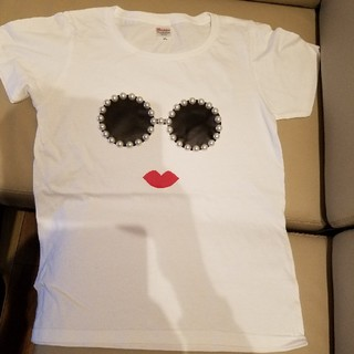 アリスアンドオリビア(Alice+Olivia)のアジョリー風 Tシャツ レディースL ハンドメイド(Tシャツ(半袖/袖なし))